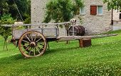 Old Cart, Tuscan Farmhouse In Italy