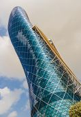 Capital Gate Tower In Abu Dhabi Uae