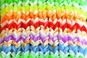 pic of loom  - Big colorful rubber rainbow band made on loom - JPG