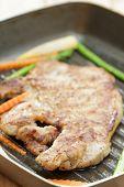 Steak With Vegetable