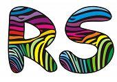 Background Skin Zebra Shaped Letter R,s.eps