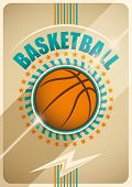 Basketball poster design. Vector illustration.