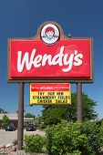 Wendy's Resturaunt Sign