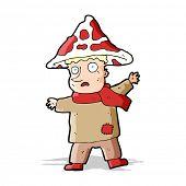pic of magical-mushroom  - cartoon magical mushroom man - JPG