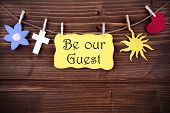 Hanging Tag With Be Our Guest