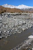 foto of snowbird  - Snow runoff from the snow capped San Bernardino Mountains taken in Whitewater - JPG