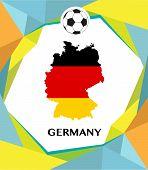 Germany soccer theme design