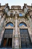 North Double Door Entrance To The Santiago De Compostela Cathedral