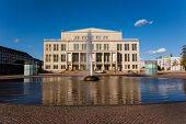 stock photo of leipzig  - Cityscape view of the opera house building in Leipzig Germany - JPG