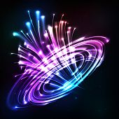 Neon lights vector cosmic explode