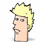cartoon nervous expression