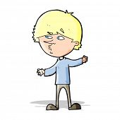 cartoon curious man