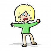 cartoon unhappy person