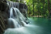 picture of stepping stones  - lime stone water fall in arawan water fall national park kanchanaburi thailand use for natural background - JPG