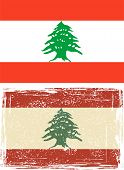 Lebanon grunge flag. Vector illustration