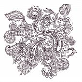Beautiful Indian paisley ornament