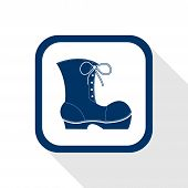 Square Blue Icon Work Boots