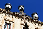 Wrought iron lamppost, Seville.