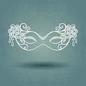 Beautiful Masquerade Mask (Vector)