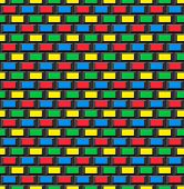 Old School 8 Bit Brick Arcade Game Style Background (seamless Vector)