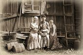 Vintage Styled Family Portrait