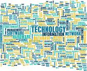Technology Word Cloud as a Business Concept Art