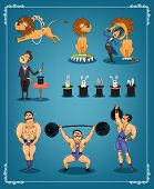 Magician  animal trainer and strongman