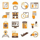business management icons, shipping icons