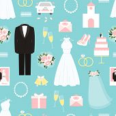 Wedding seamless background pattern