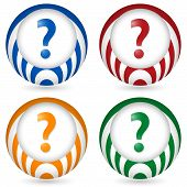 Set Of Four Icon With Question Mark