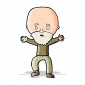 cartoon panicking old man