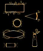 Gold and black frame elements