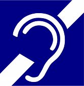 foto of deaf  - Vector Illustration of the Deafness Access Symbol - JPG