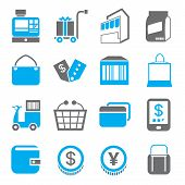 image of bartering  - set of 16 shopping icons - JPG