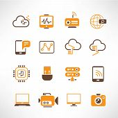 network, communication icons