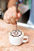 Cappuccino Preparation