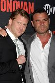 LOS ANGELES - JUL 9:  Dash Mihok, Liev Schreiber at the