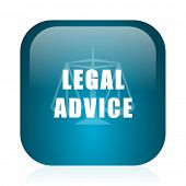 legal advice blue glossy internet icon