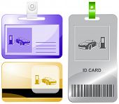 Car fueling. Raster id cards.