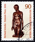 Postage Stamp Germany 1981 Flora Kneeling, By Richard Scheibe