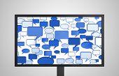 Desktop Monitor Display Conversation Blue