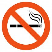 No smoking vector sign isolated on white background.