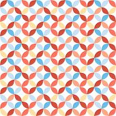 Seamless bright geometric circle pattern.