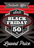 Template Retro Poster For Black Friday