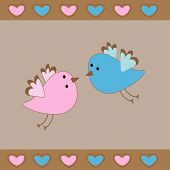 Cute Birds Love Card.