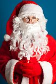 Santa Claus with red costume