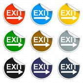 Exit Icon - Vector Illustration With Shadow On Light Background