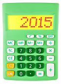 Calculator With 2015 On Display