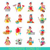 Housewife Icon Set
