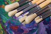Acrylic Paint And Paint Brushes Set